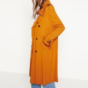 Incredible Orange Zara Trenchcoat